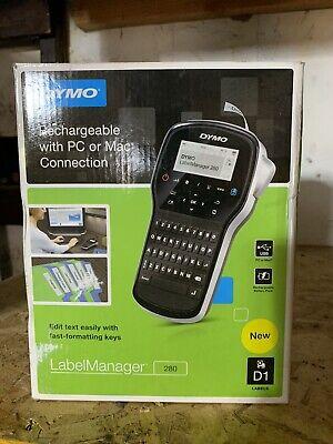 Dymo Label Maker Labelmanager 280 Rechargeable Portable Label Maker