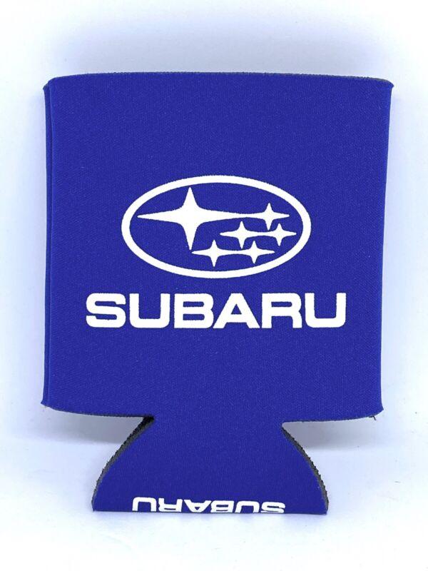 Subaru Foam Can Drink Koozie Coozie Blue White Logo New