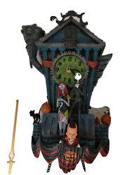 Disney's Tim Burtin Nightmare Before Christmas Cuckoo Wall Clock (Read Descrip)
