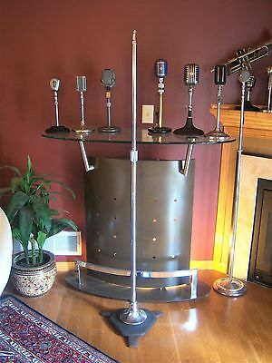 Vintage RARE 1940's Atlas MS-24 Professional microphone floor stand old used # 1