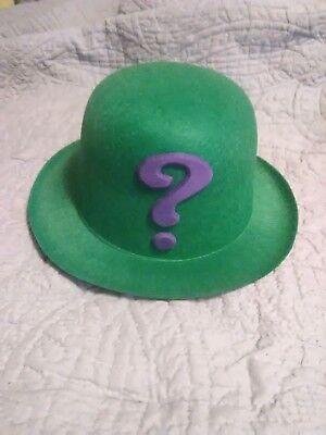 Green felt Riddler hat batman prop replica