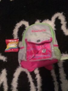 American Girl backpack and fake chips