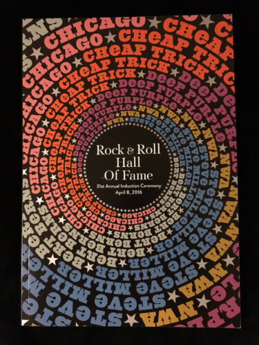CHICAGO-N.W.A.-CHEAPTRICK-DR. DRE 2016 Rock Roll Hall of Fame Induction Program