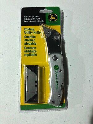 John Deere Folding Utility Knife w/ Extra Blades - TY26567