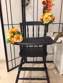 For hire:  $20/day vintage wooden timber black high chair