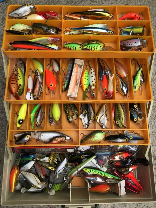 tackle box full of lures