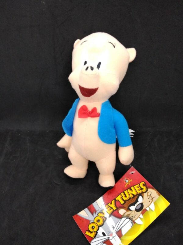Looney Tunes Porky Pig Plush Toy Factory Stuffed Doll By Warner Bros