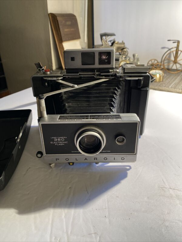Vintage Polaroid 360 Land Camera with Case and Strap Untested Antique