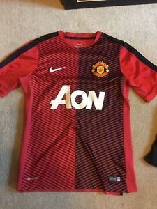 Manchester United jersey and shorts