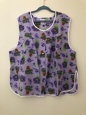 Moon Apron (Moon Dance Women's Cobbler Apron Purple Plus Size 4X New )