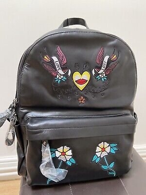 John Richmond Ladies Backpack Leather With Colour Design BNWT