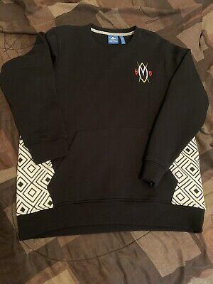 Adidas (Dikembe MoTumbo) Crew Neck Sweater Blk/Wht Mens Sz L