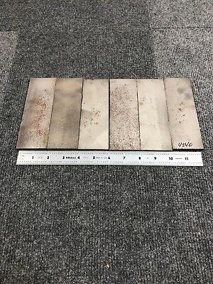 Lot Of 6 4340 Steel Flat Bar 14 X 2 X 6 Great For Knife Making. 5lbs