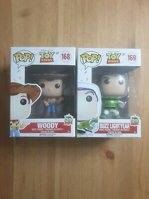 Funko Pop Vinyl! Toy Story 20th Anniversary Woody and Buzz Figures