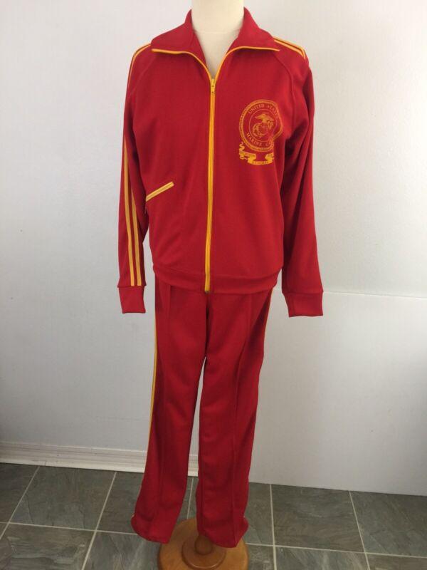 Vintage US Marine Corps Recruiting Station Los Angeles Jacket Pant Set Athletic