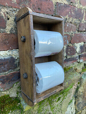 Ziegelform Holz Klopapierhalter Toilettenpapierhalter Vintage