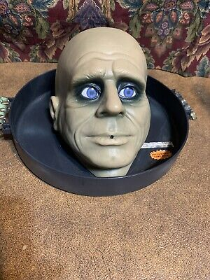 Gemmy Halloween Jeeves the BUTLER HEAD ON A TRAY Life-Size w/ CREEPY SOUNDS