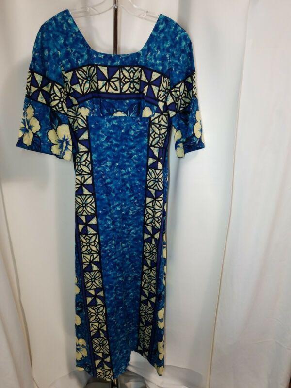 Ui Maikai Vintage Tiki Aloha Hawaiian Aloha MuuMuu Maxi Dress Size  S/M