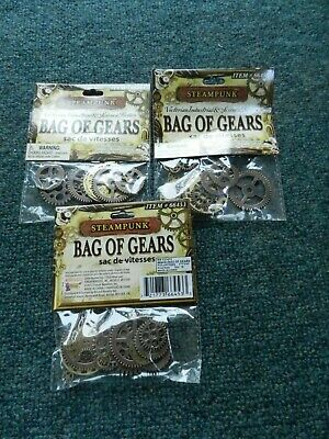 #71 3 Steampunk Bag Of Gear Gears Victorian Cosplay Costume