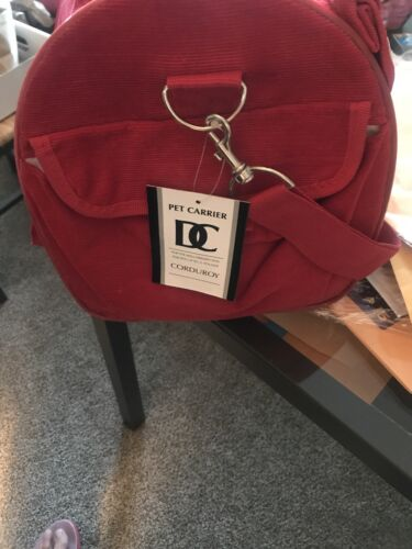 DC Pet Carrier New/tags Red Corduroy - $30.00