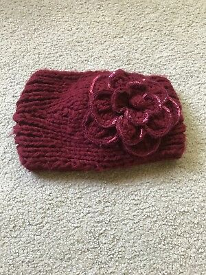 C. C Exclusives Knit Head band Ear Warmer Crochet button - Cc Exclusives Headbands