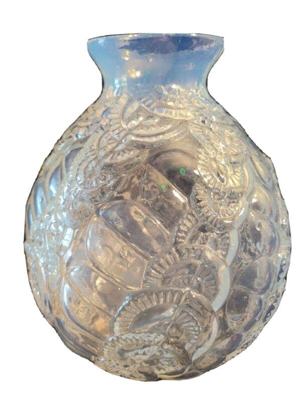 Vintage Sars, France Art Glass Opalescent Vase