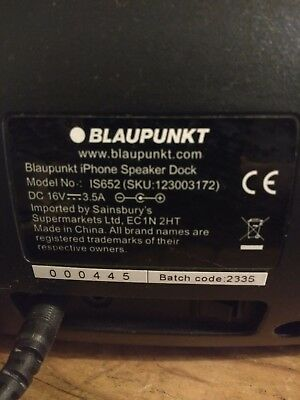 Blaupunkt IS652 iPhone speaker Dock audio MP3 Bluetooth Aux black iPod