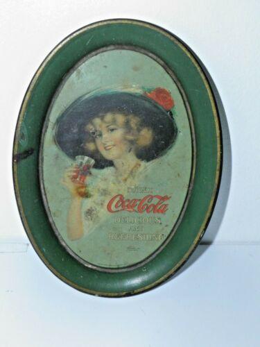 Original Drink Coca Cola Tip Change Tray Copyright 1912 Tin Litho Passaic Metal