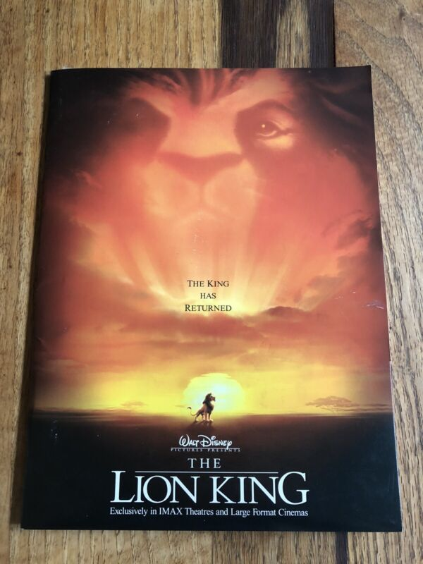 The Lion King Disney IMAX Movie Press Kit - includes 6 Color Photos & Booklet