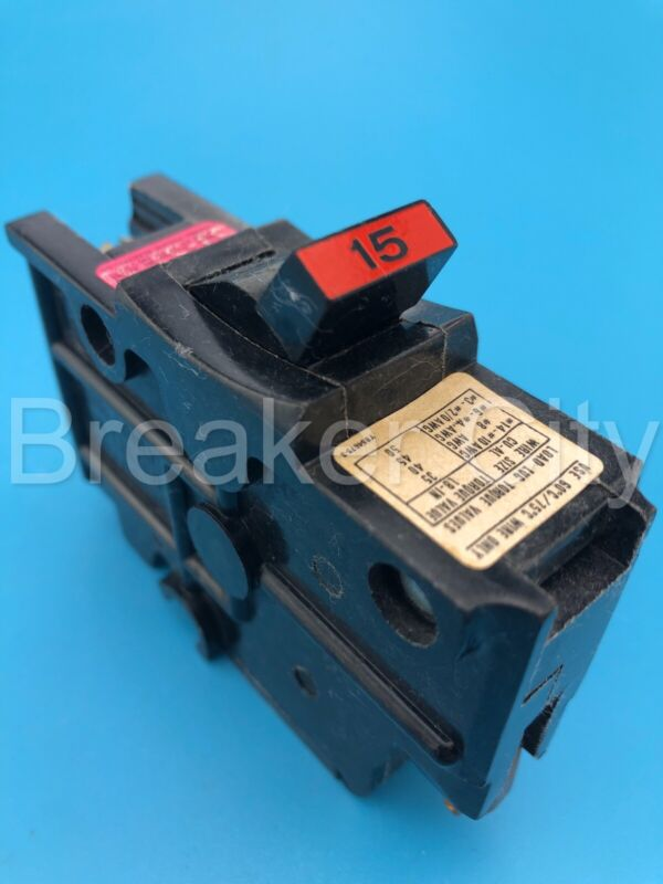 Federal Pacific NA115 15 Amp 1 Pole Type NA (Thick) Stab-Lok FPE Circuit Breaker
