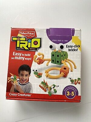 FISHER PRICE Trio Blocks Crazy Creatures P6836. Complete No Box