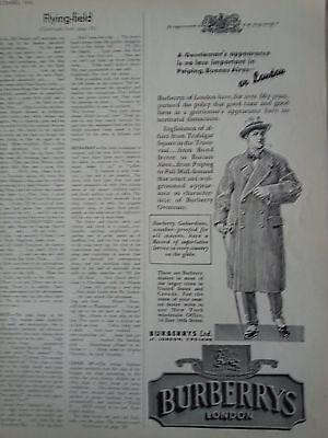 1935 Burberrys London of England Mens Coat Original Fashion Ad