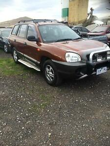 2001 Hyundai auto Santa Fe Wagon reg&rwc $3699 Hoppers Crossing Wyndham Area Preview