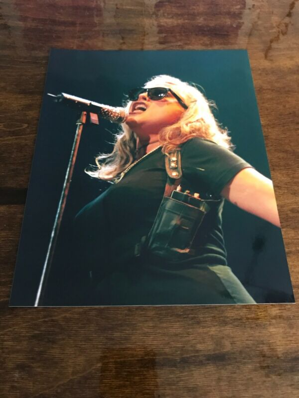 Vintage Angry Blondie Deborah Harry 8x10 Glossy Photo Singing With Attitude