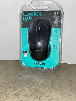 Logitech M510 Wireless Laser Mouse Dark Grey Includes USB Receiver & Batteries