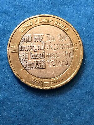 2011 £2 KING JAMES BIBLE 400TH ANNIVERSARY TWO POUND COIN HUNT RARE .