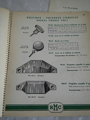 vintage Catalogue 1950 R.Monin & Cie Hinge handle and fastener makers