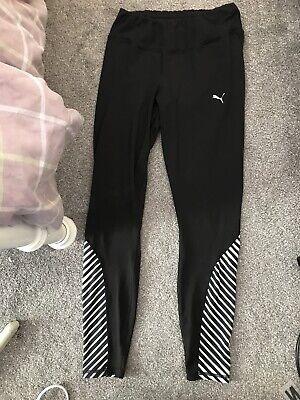 Ladies Size 12 Black PUMA Sports Leggings