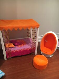 American Girl Julie bed and chair set