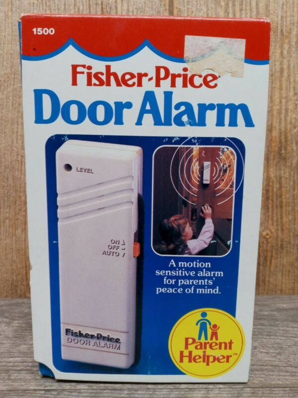 Vintage Fisher Price Collectable Childrens Motion Door Alarm 1986 New in Box MK1