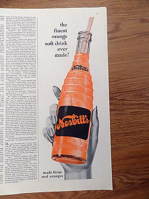 1956 Nesbitt's California Orange Soda Ad  Finest Orange Soft Drink Ever Made