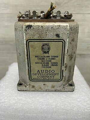 vintage transformer ADC Audio Development Company 100P Pri-1-4-20,000 ohms vtg