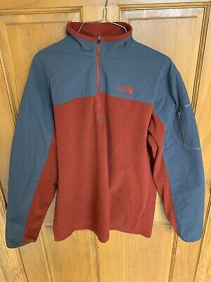 The North Face 1/4 Zip  Fleece Pullover Red/Gray Men's Large