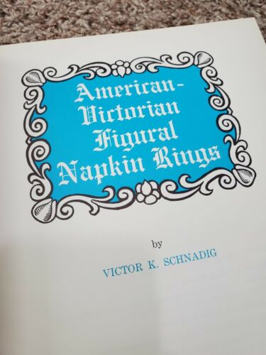 American Victorian Figural Napkin Rings by Victor Schnadig 1971 HC Free Shipping
