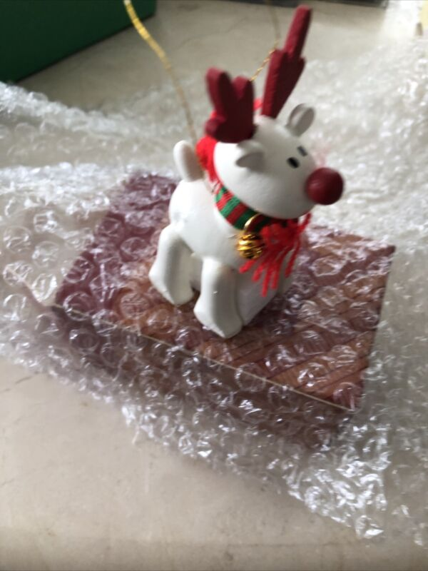 Vintage 1987 Belvedeer The Christmas Reindeer Ornament - Avon Gift Collection