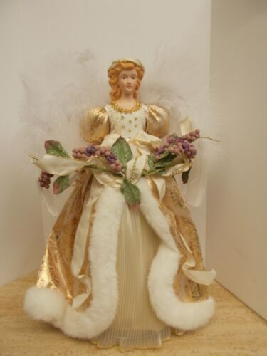 "Camellia Garden Collection 16"" Angel Tree Topper"