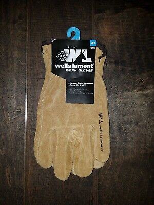 Wells Lamont 1012 Suede Cowhide Full Leather Work Gloves