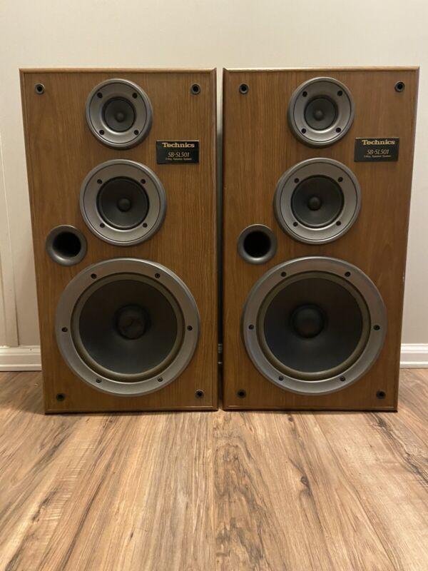 Technics SB-SL501 3 Way Speaker System Vintage