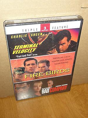 Terminal Velocity / Fire Birds / Bad Company (DVD) Nicolas Cage, Ellen Barkin...