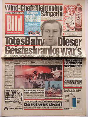 Bild Zeitung vom Mittwoch den 13.05.1987, zum 30. Geburtstag